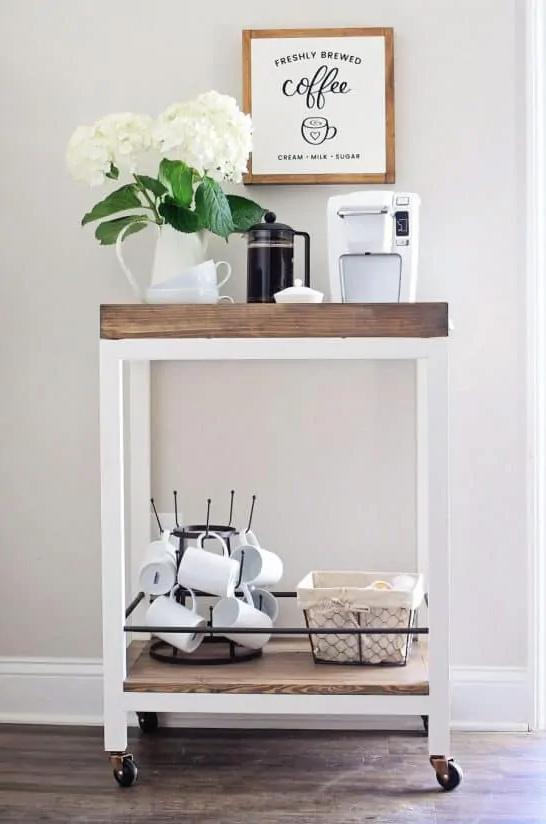 coffee cart station idea
