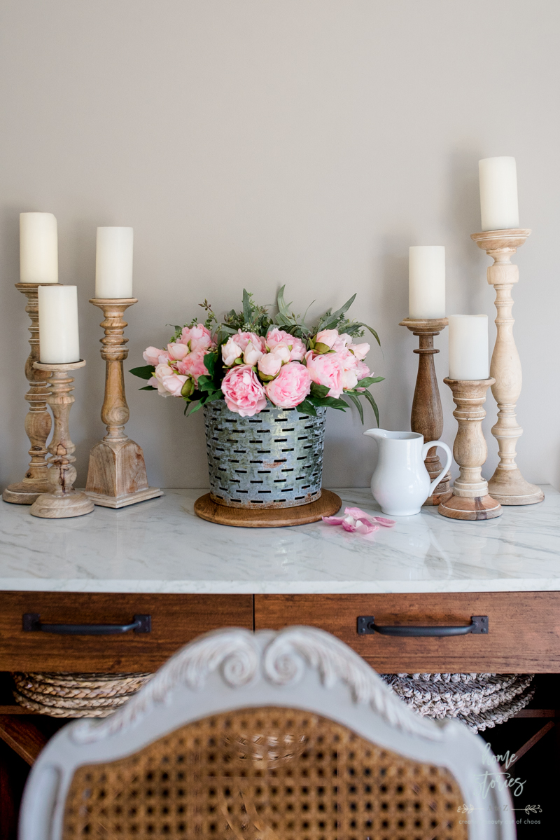 pink peonies decor