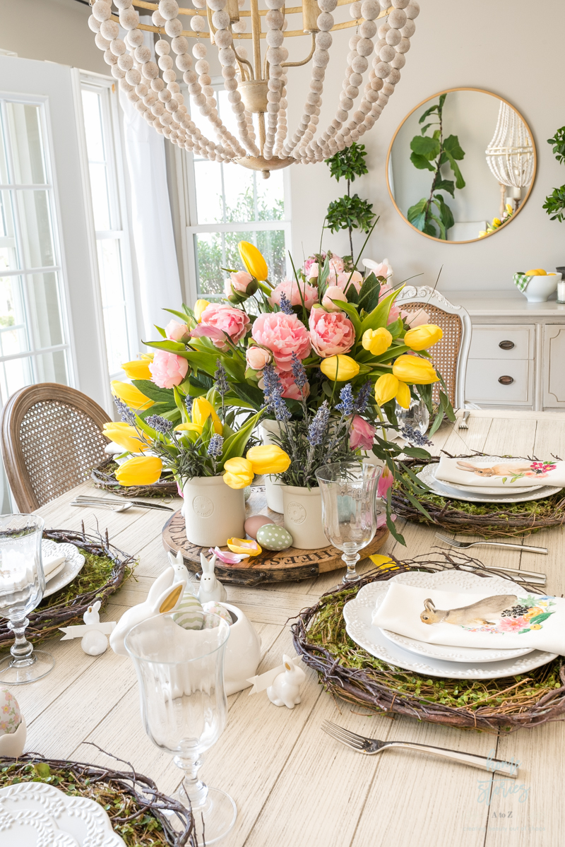 beautiful easter table