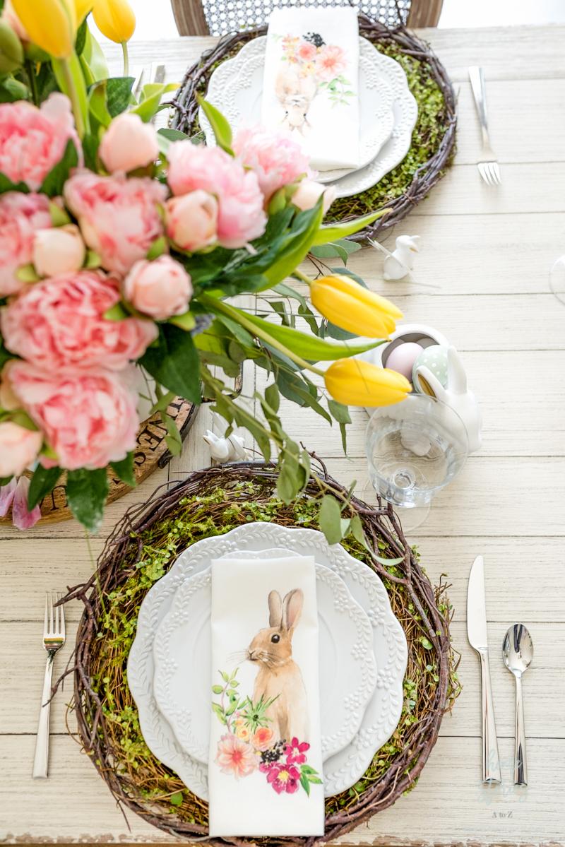 pottery barn bunny napkins