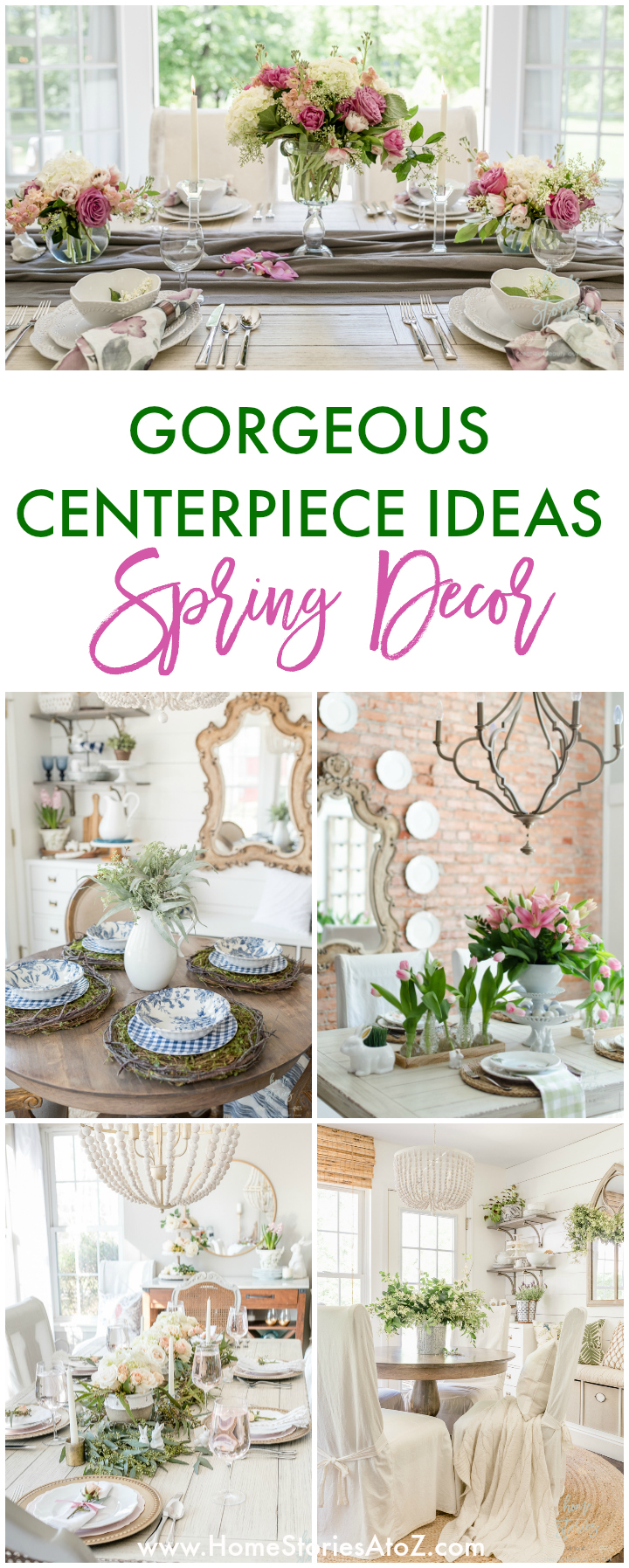 Spring Decor Ideas - Gorgeous Centerpiece Ideas by Home Stories A to Z