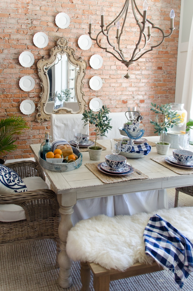 Spring Decor Ideas - Gorgeous Ideas for Your Spring Table - Modern Farmhouse Table by Home Stories A to Z