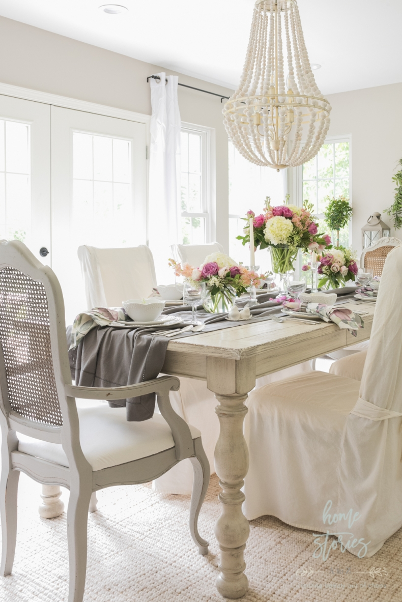Spring Decor Ideas - Gorgeous Ideas for Your Spring Table - Mothers Day Table Setting by Home Stories A to Z