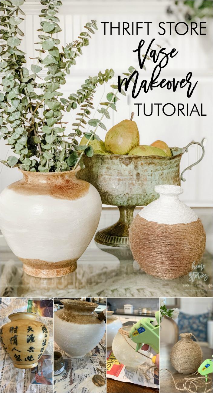 thrift store vase makeover