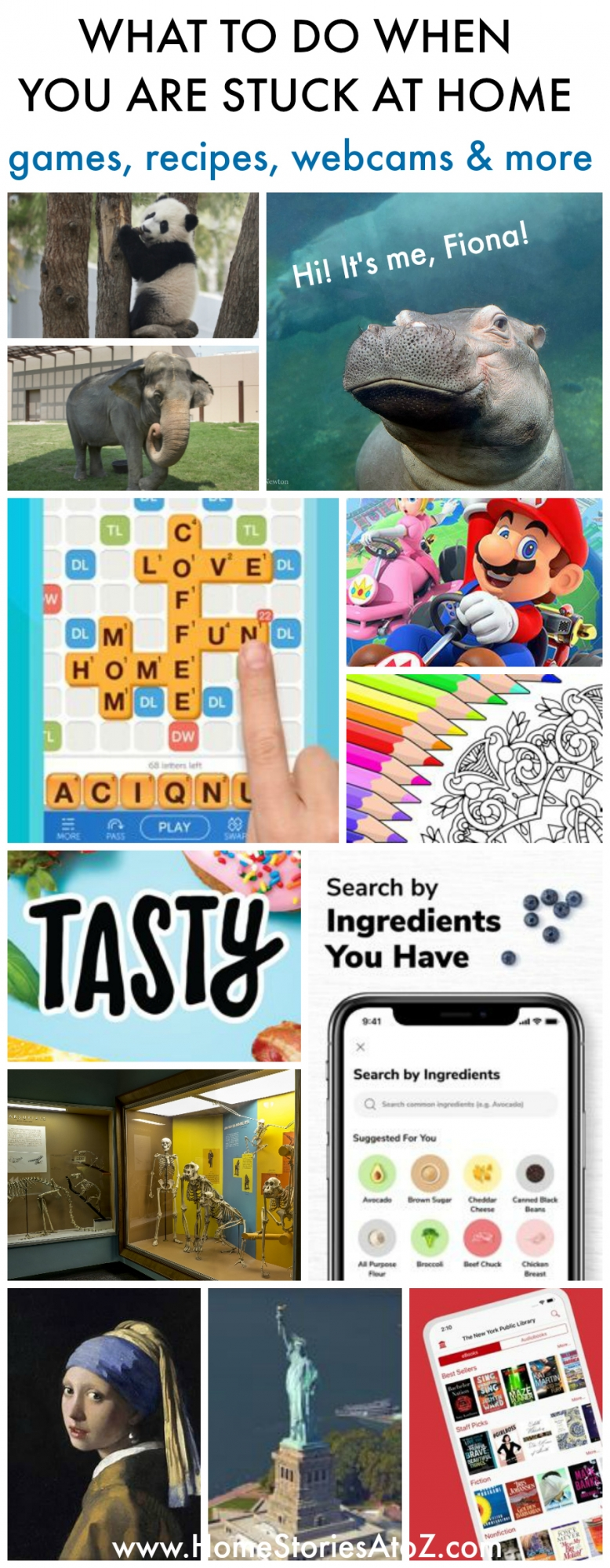What to do when you are stuck at home - Games, recipes, webcams, and more - Home Stories A to Z