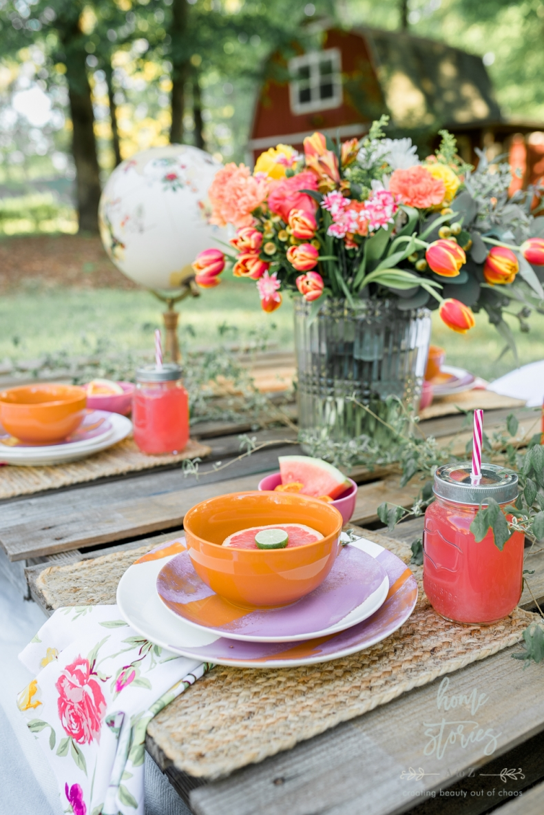 Spring Decor Ideas - Gorgeous Ideas for Your Spring Table - Boho Chic Spring Table by Home Stories A to Z