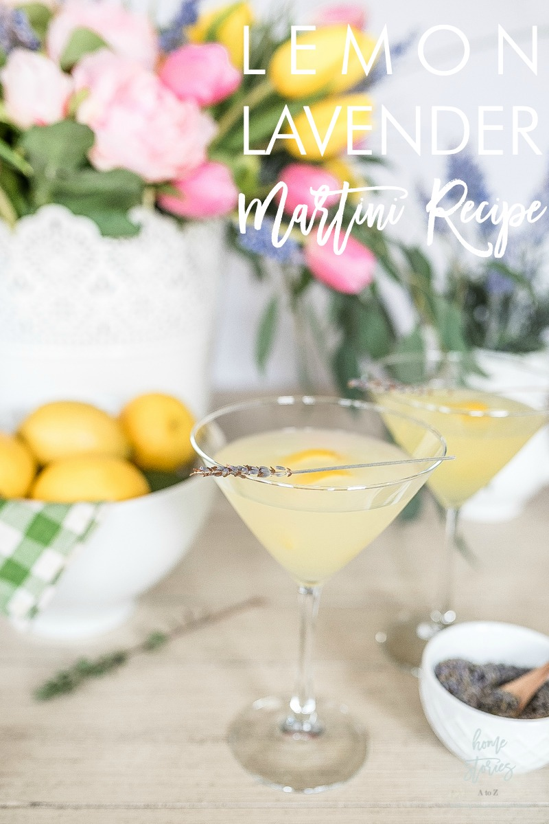 lemon lavender martini cocktail recipe