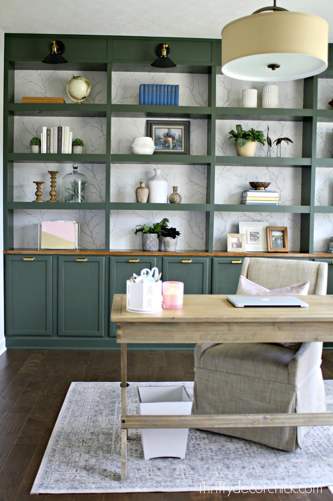 office built in bookshelves