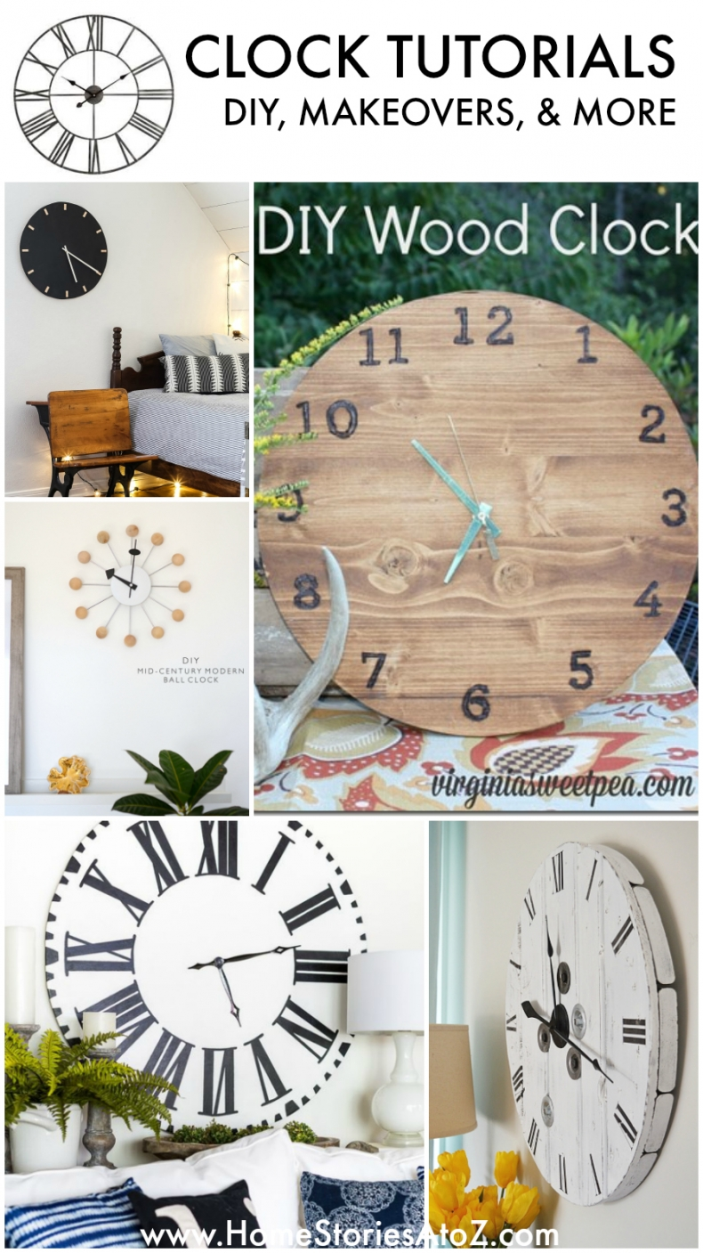 All About Clocks - DIY, Makeovers, & More