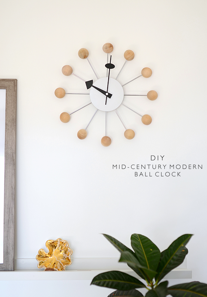 All About Clocks - DIY Mid-Century Modern Ball Clock by Nalle's House