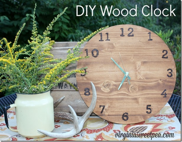 All About Clocks - DIY Wood Clock by Virgina Sweet Pea