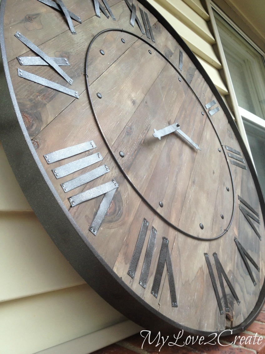 All About Clocks - Pottery Barn Knockoff Clock by My Love 2 Create