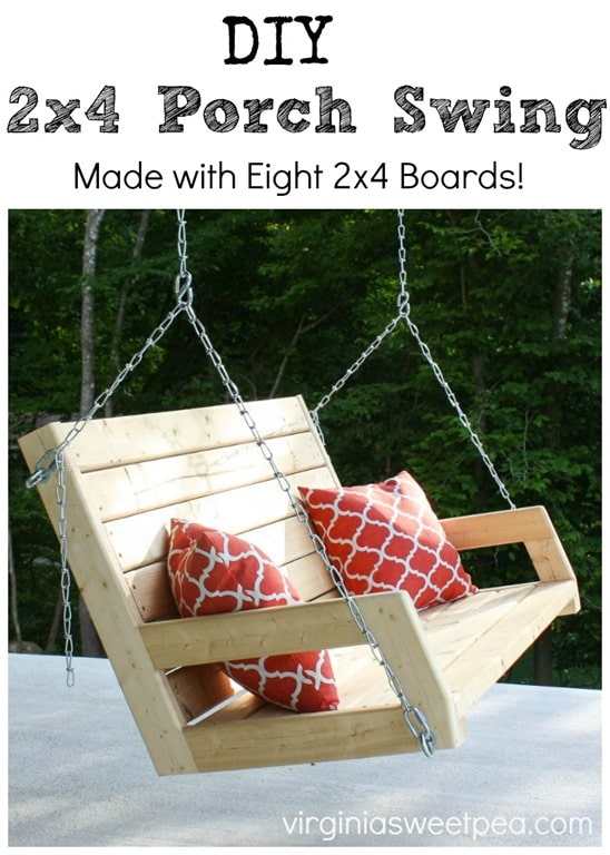DIY Porch Swing Plans - DIY 2x4 Porch Swing by Sweet Pea