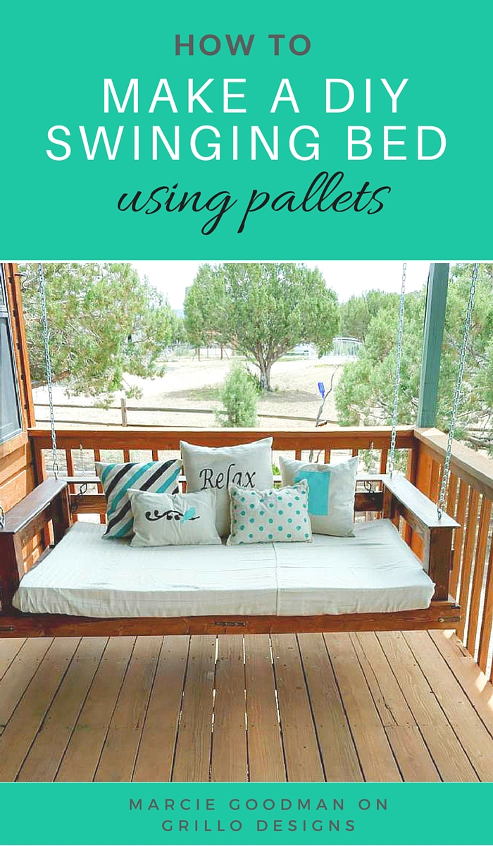 DIY Porch Swing Plans - DIY Pallet Swing Bed by Grillo Designs