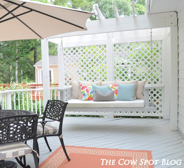 DIY Porch Swing Plans - DIY Swing Bed by The Cow Spot