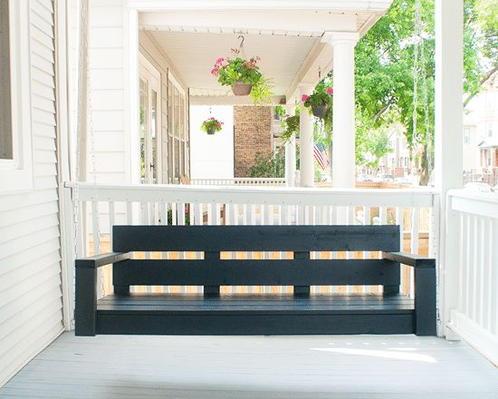 DIY Porch Swing Plans - How to Build a Porch Swing by Yellow Brick Home