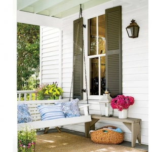 DIY Porch Swing Plans - How to Hang a Porch Swing by Southern Living