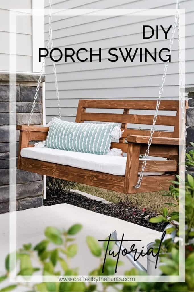DIY Porch Swing Plans - by Crafted by the Hunts