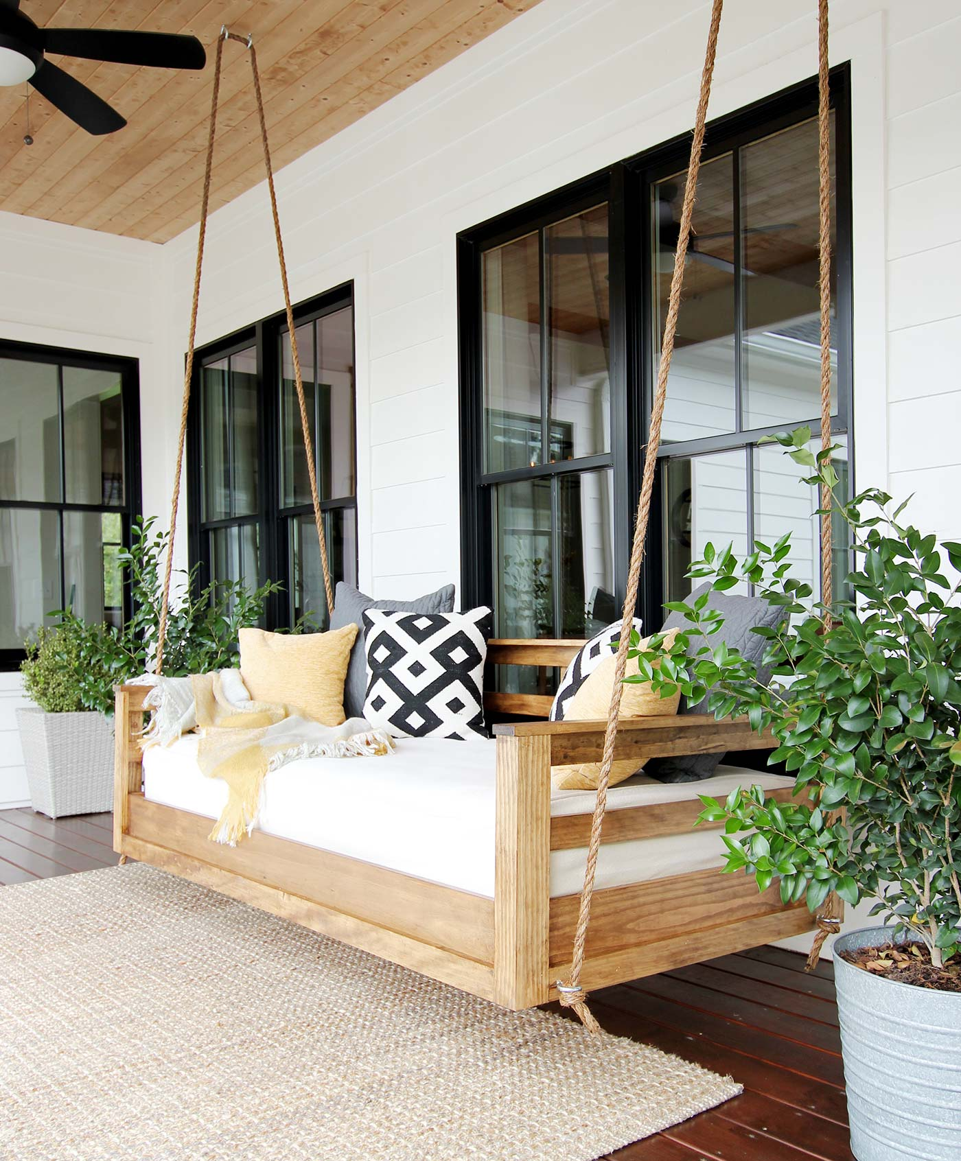 DIY bed porch swing plans