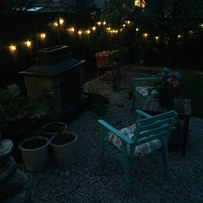 Entertaining Outdoors Using String Lights - 7 Way to Hang String Lights by A Pretty Life