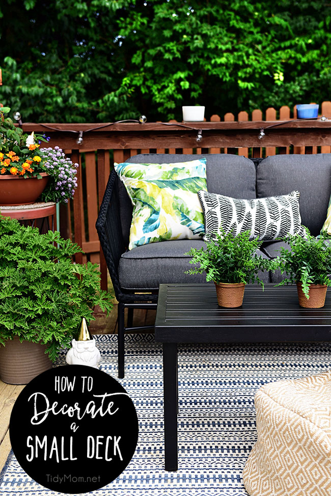 Entertaining Outdoors Using String Lights - Maximize a Small Space by Tidy Mom