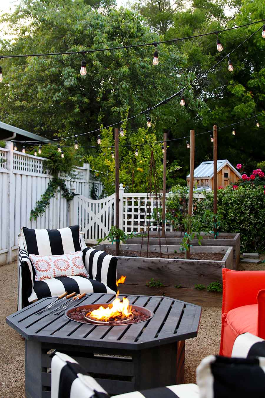 Entertaining Outdoors Using String Lights - Summer Patio by Modern Glam