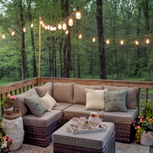 Entertaining Outdoors Using String Lights - Tips on How to Decorate Outdoors by Home Stories A to Z