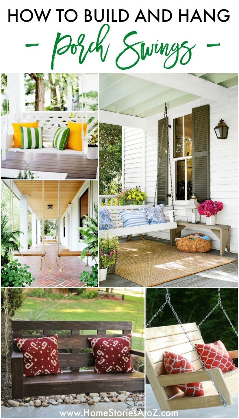 How to Build and Hang A Porch Swing - Home Stories A to Z