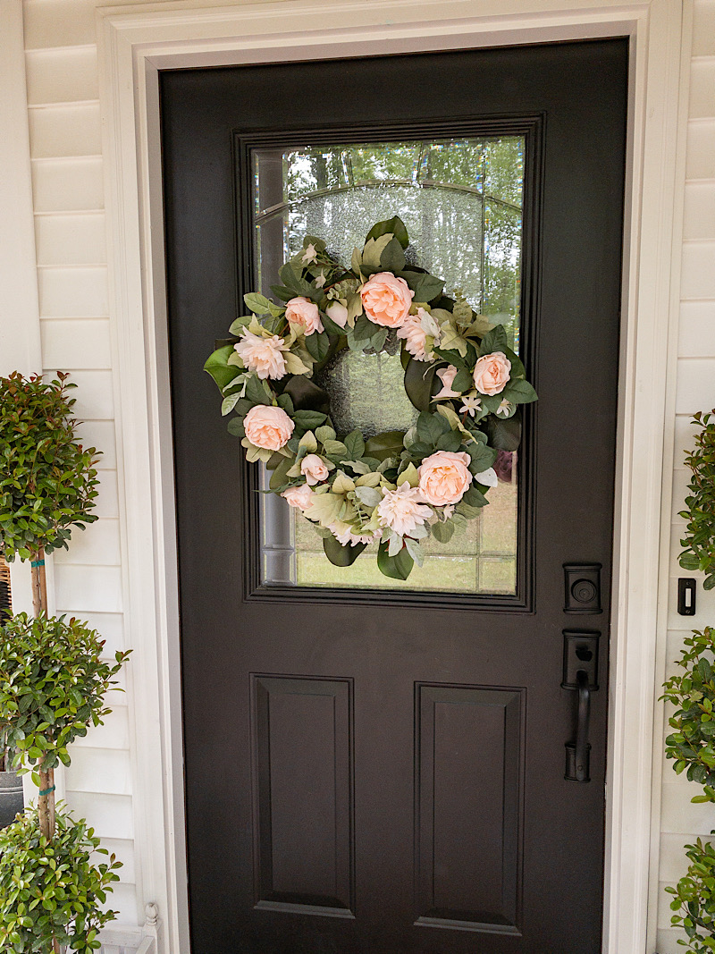 black-door-flower-wreath