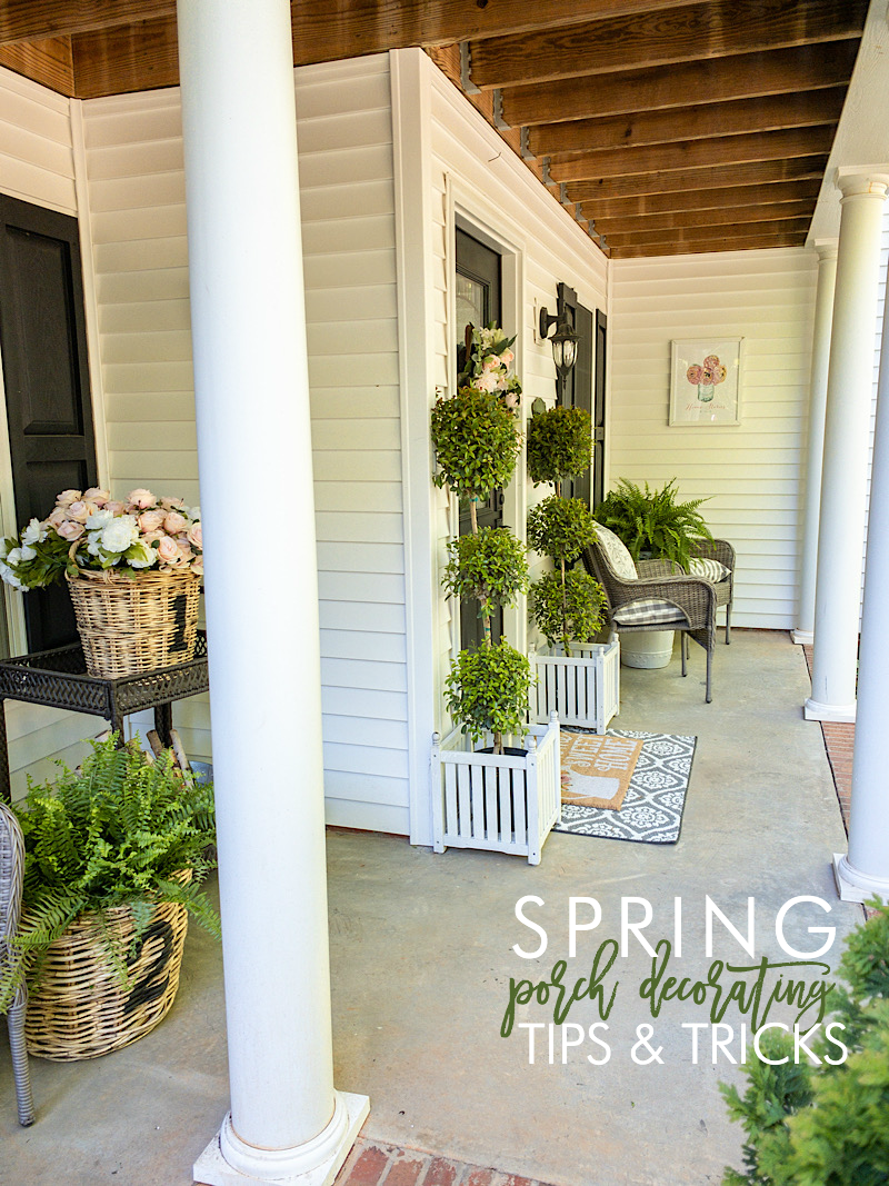 spring porch decorating tips