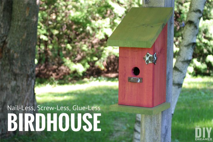 Bird Baths, Bird Feeders, and Bird Houses - Simple Birdhouse by The DIY Dreamer