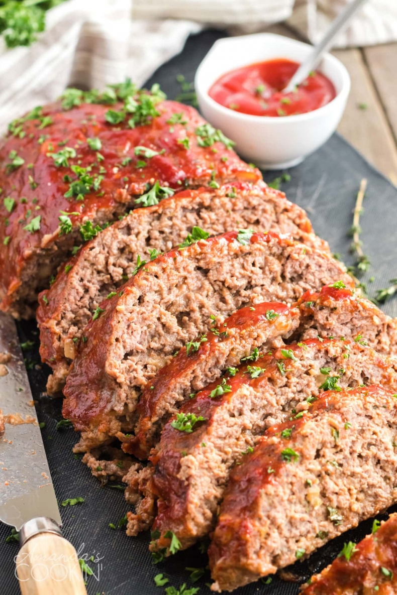 Comfort Food Recipes - Best Meatloaf Recipe by Amanda's Cookin