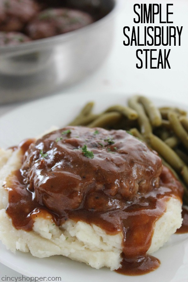 Comfort Food Recipes - Salisbury Steak Recipe by Cincy Shopper
