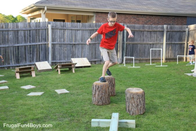 Fun Outdoor Games - Backyard Obstacle Course by Frugal Fun 4 Boys