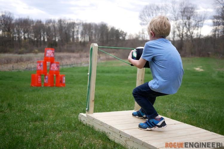 Fun Outdoor Games - Backyard Slingshot by Rogue Engineer