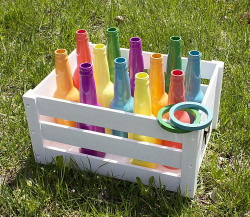 Fun Outdoor Games - Bottle Ring Toss Game
