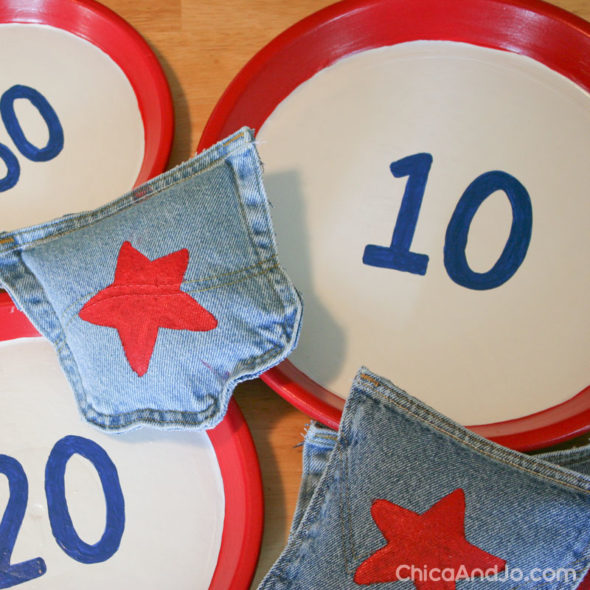 Fun Outdoor Games - DIY Bean Bags by Chic and Jo