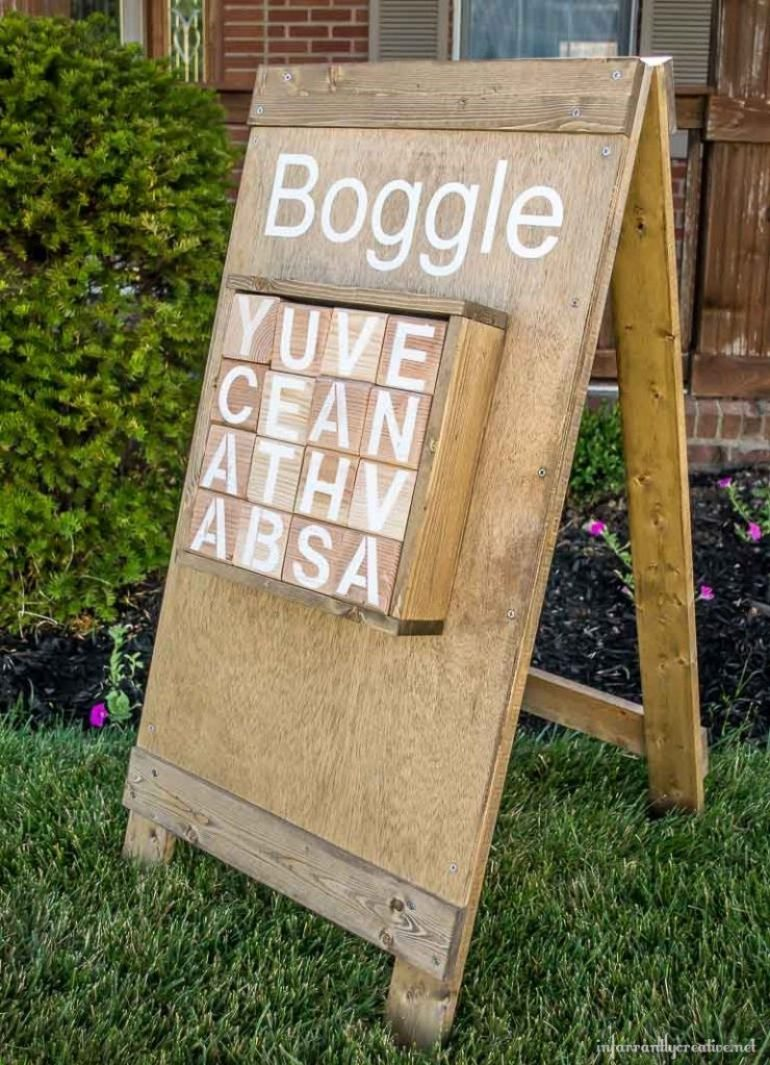 Fun Outdoor Games - DIY Outdoor Boggle by Infarrantly Creative