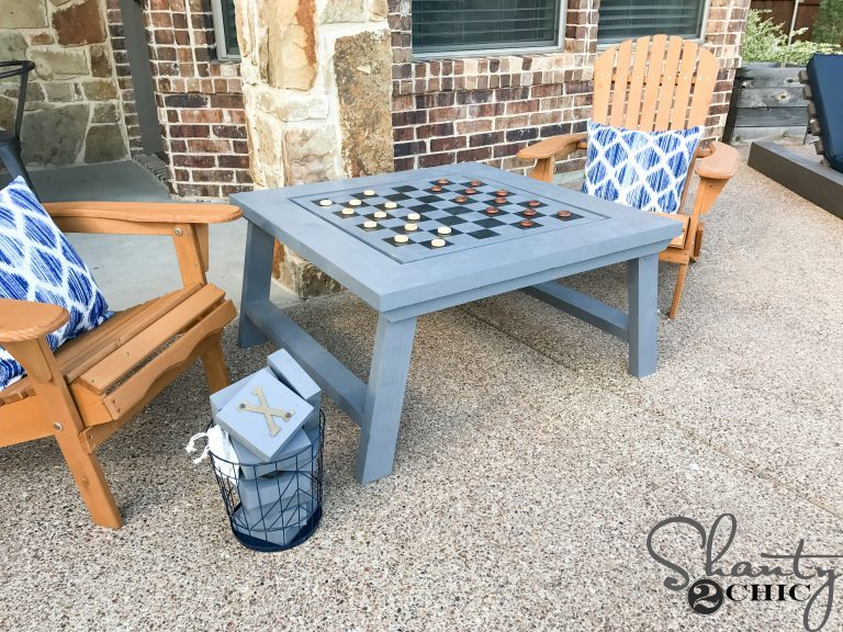 Fun Outdoor Games - DIY Outdoor Game Table by Shanty 2 Chic