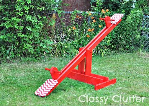 Fun Outdoor Games - DIY Seesaw by Classy Clutter