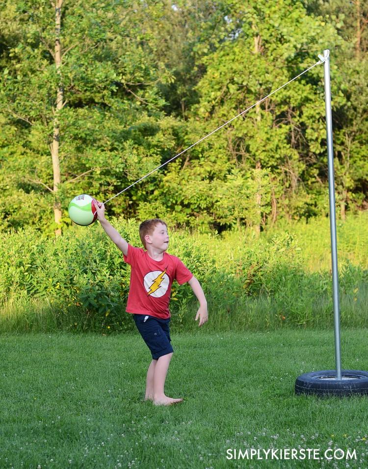 Fun Outdoor Games - DIY Tetherball by Old Salt Farm