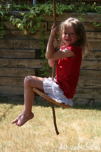 Fun Outdoor Games - How to Make a Rope Swing by Dukes & Duchesses