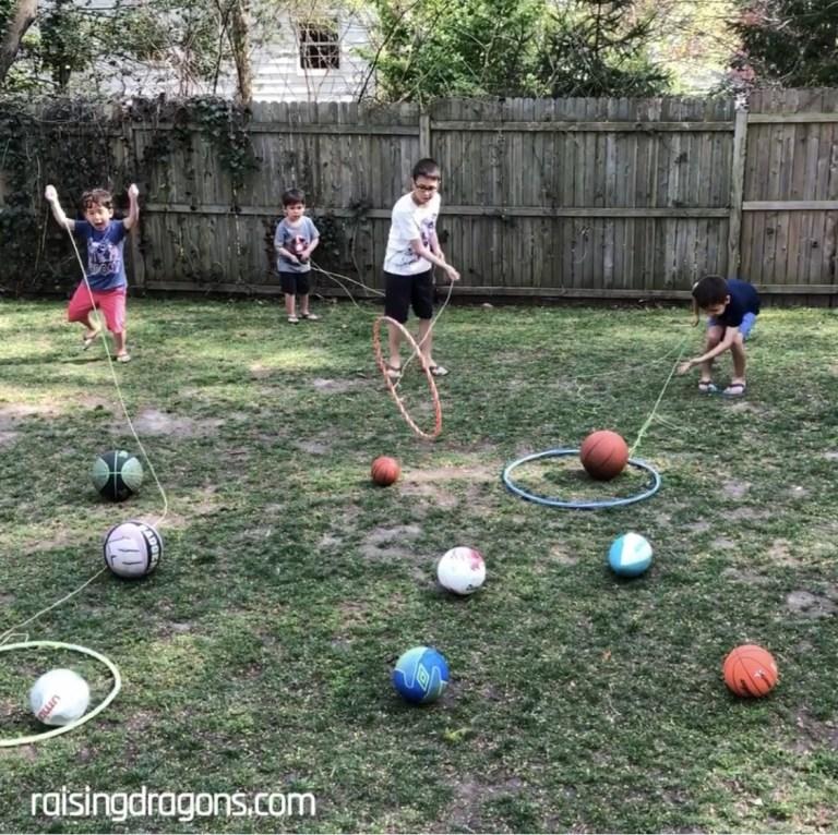 Fun Outdoor Games - Hula Hoop Lasso Challenge by Raising Dragons