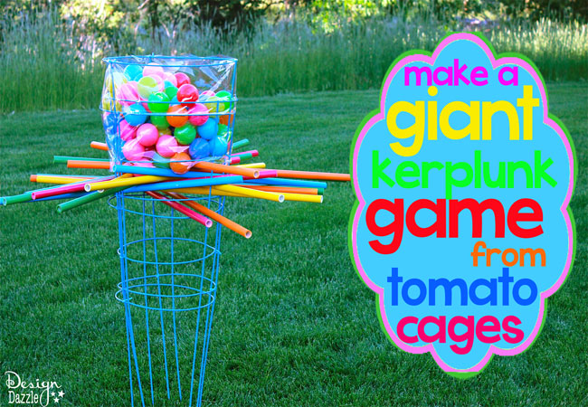 Fun Outdoor Games - Kerplunk Game from Tomato Cages by Design Dazzle