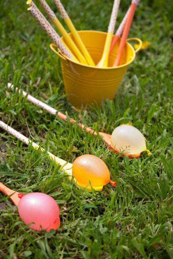 Fun Outdoor Games - Water Balloon Egg Walk Game by Kara's Party Ideas