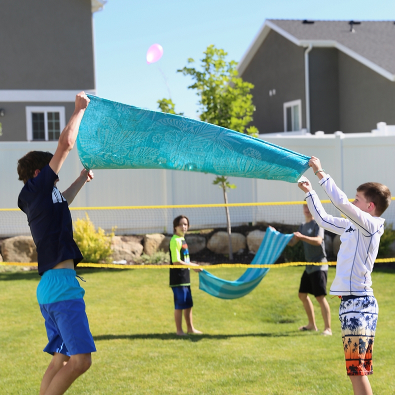 Fun Outdoor Games - Water Balloon Volleyball by It's Always Autumn