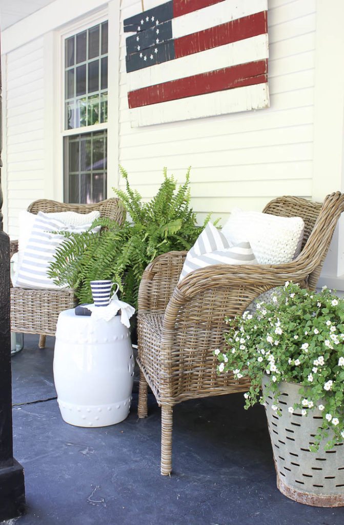 Patriotic Porch Ideas - Fourth of July Porches - Front Porch Decorating by Rooms for Rent