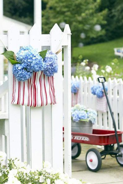 Patriotic Porch Ideas - Fourth of July Porches - July 4th Door Decor by GH