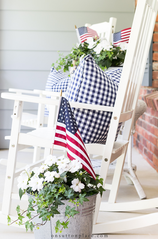 Patriotic Porch Ideas - Fourth of July Porches - July 4th Porch Ideas by On Sutton Place