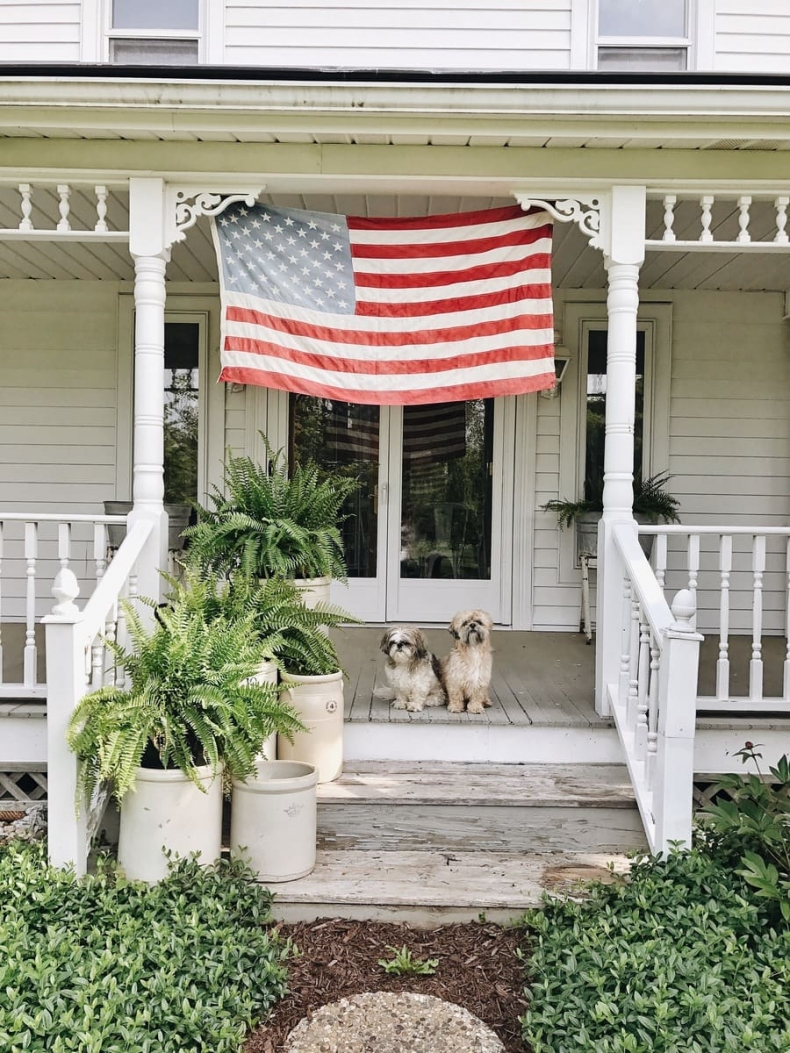Patriotic Porch Ideas - Fourth of July Porches - Liz Marie Blog